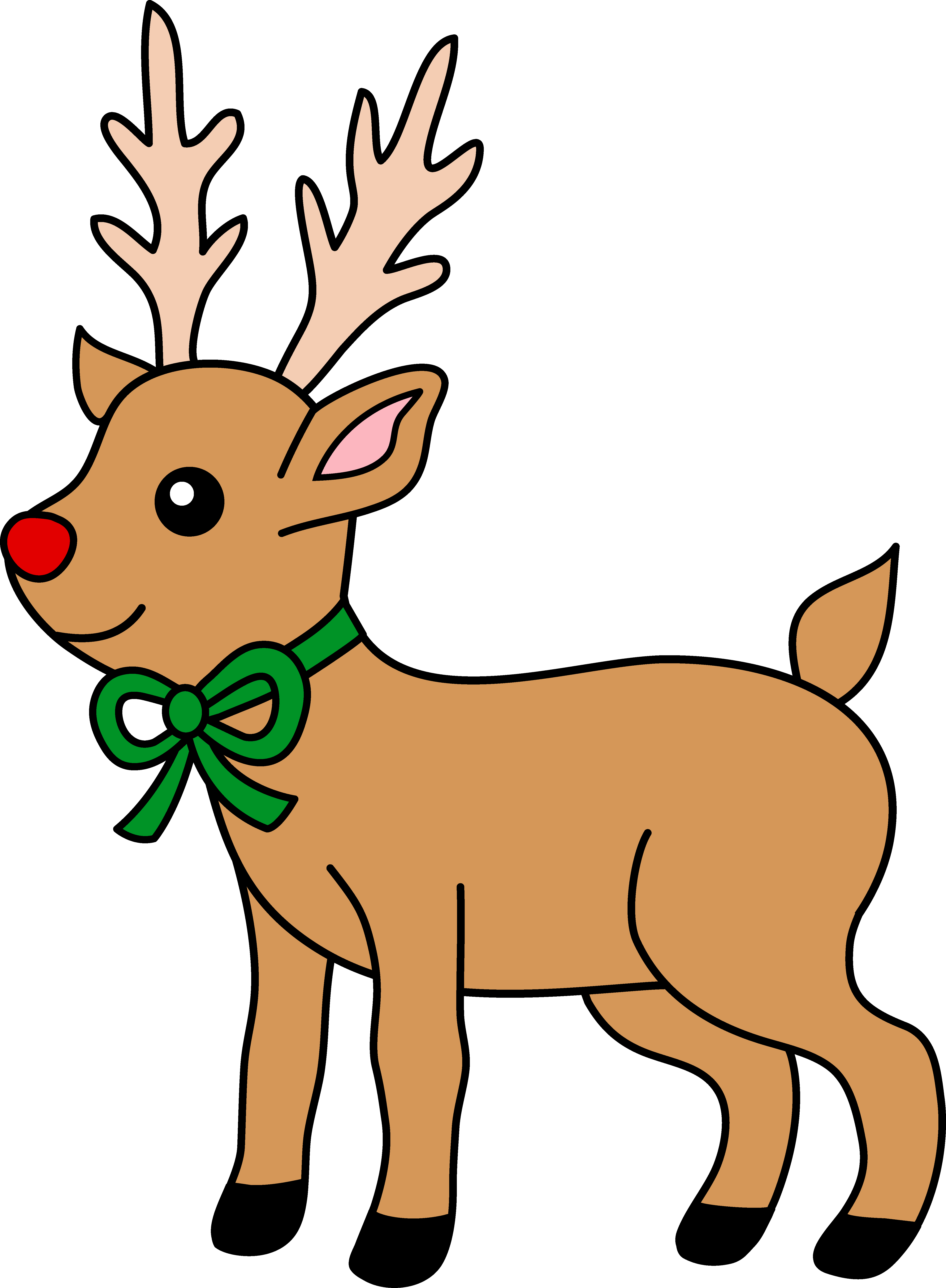 Reindeer . The nosed clipart picture transparent stock
