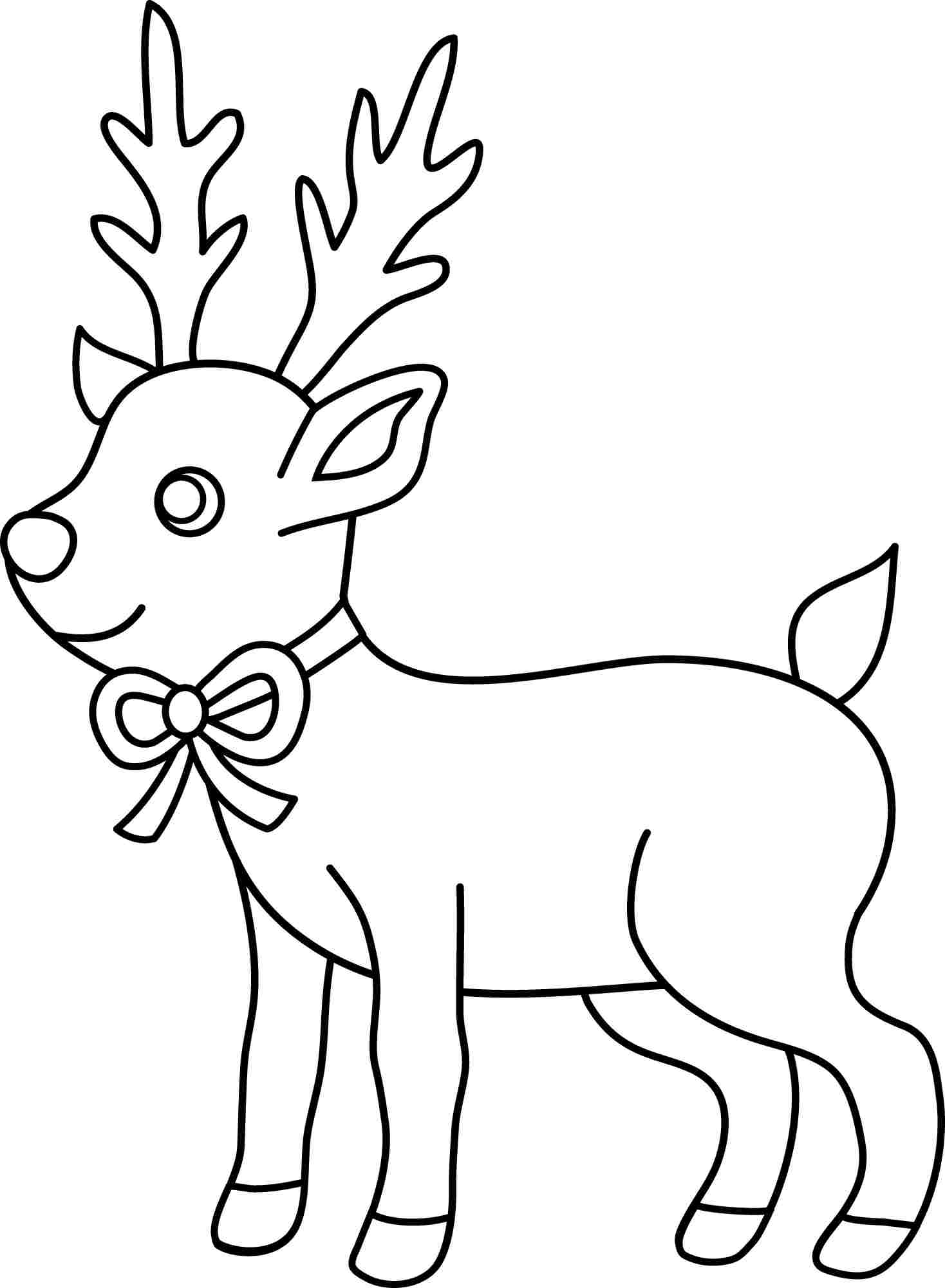 Reindeer clipart easy. Coloring pages bgcentrum