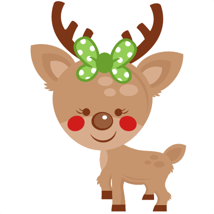 Reindeer clipart png. Girl svg scrapbook cut