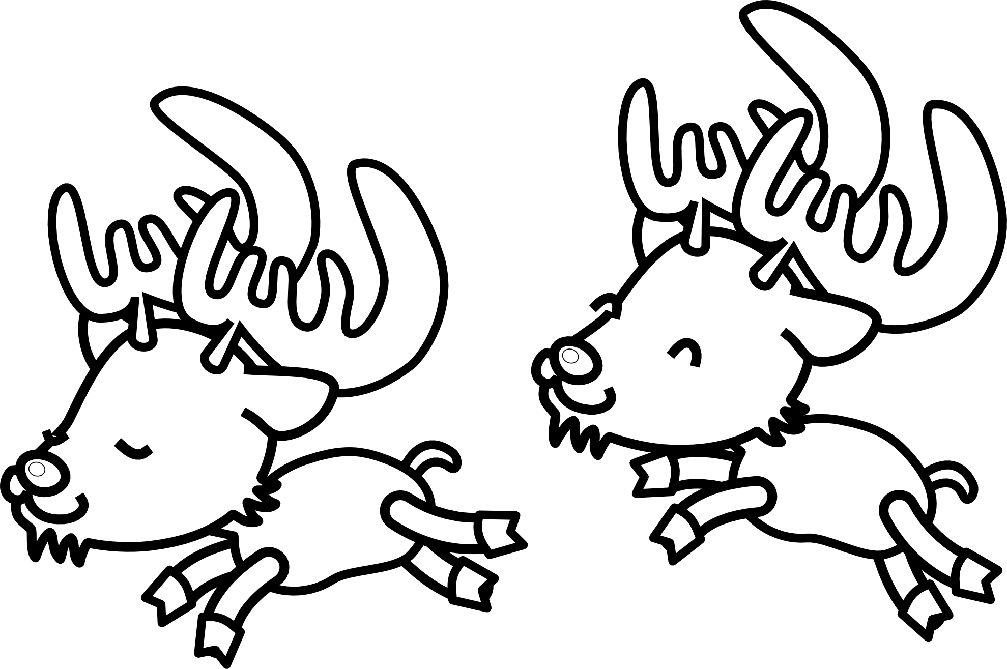 Reindeer clipart simple. Black and white panda