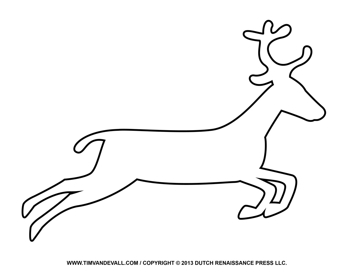 Unique black and white. Reindeer clipart simple clipart download