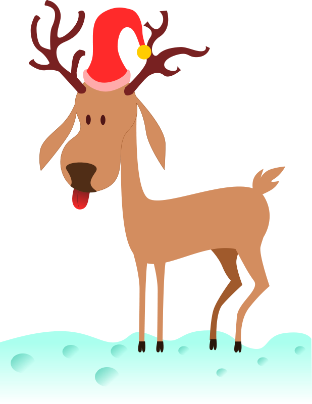 Reindeer clipart simple. Free christmas graphics rudolphs