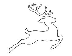 Reindeer clipart template. Flying silhouette clip art