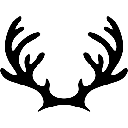 Reindeer hat png. Christmas silhouettes page antlers
