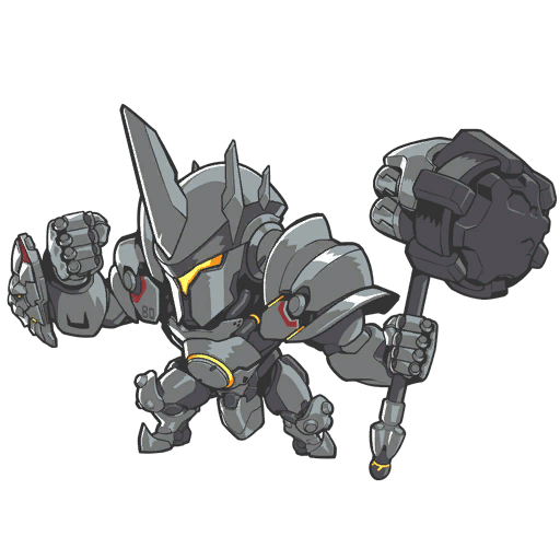 Reinhardt cute spray png. D va guide gameplay