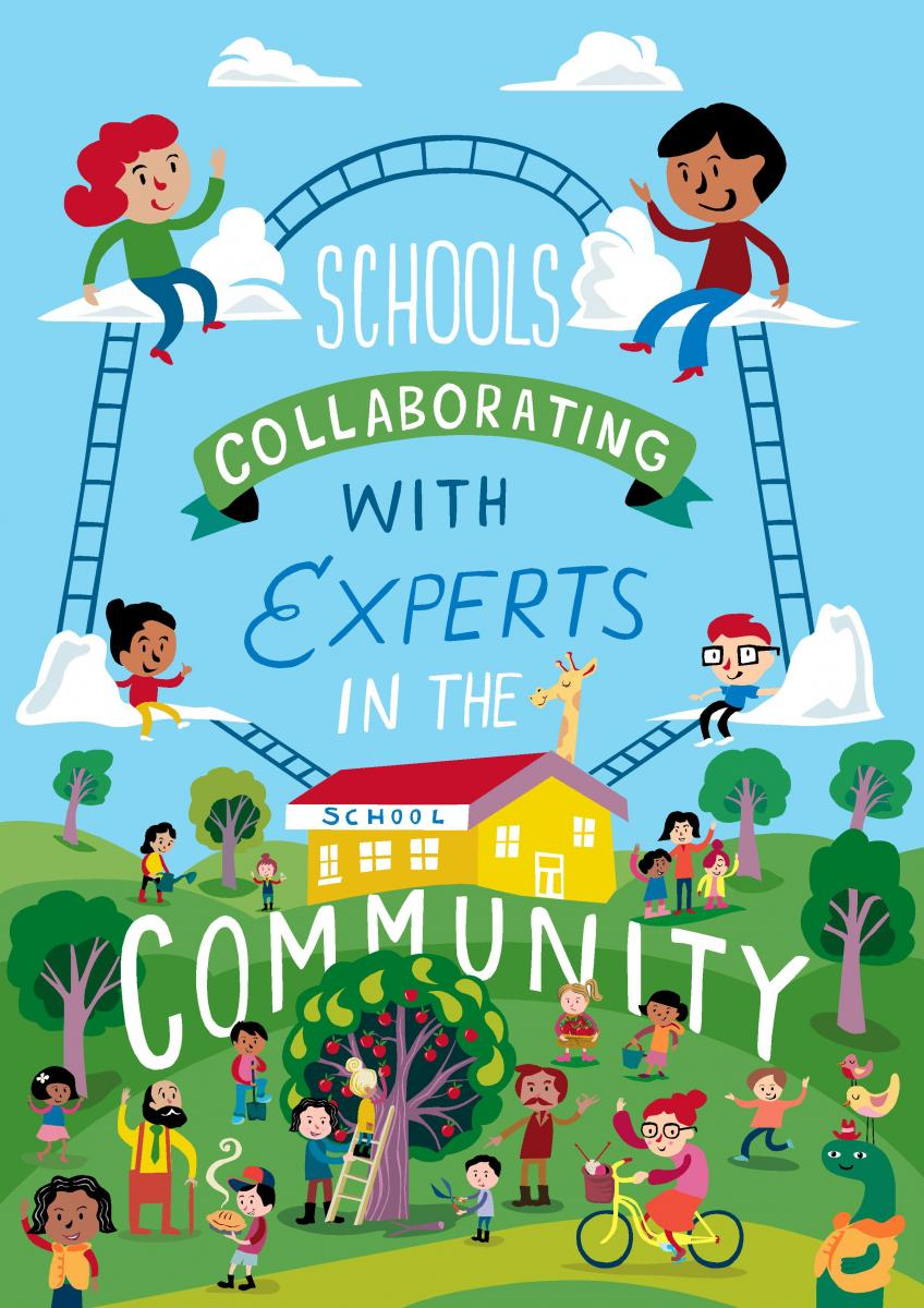 Relationship clipart school community. Schools collaborating with and