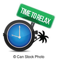 Time to stock illustration. Relax clipart svg black and white download