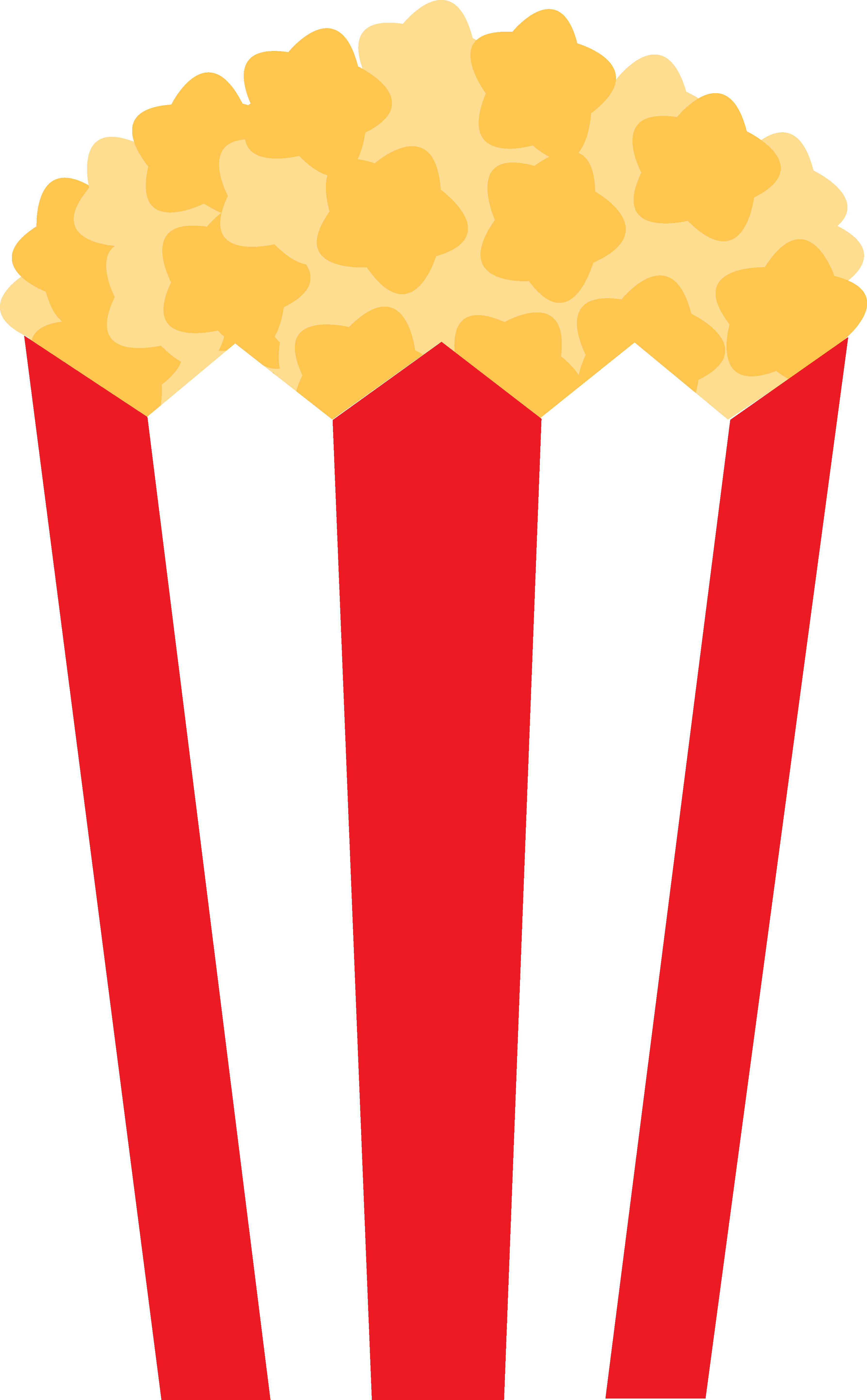 Relax clipart. Popcorn film free image