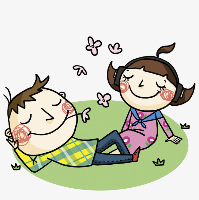 Relax clipart. And enjoy two people