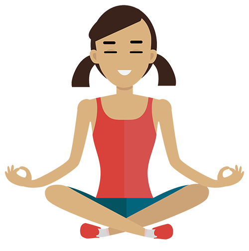 Relax clipart meditation. Mindfulness books and cd