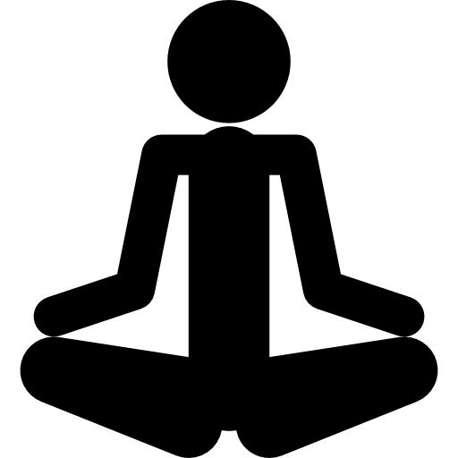 Relax clipart meditation posture. Person silhouette in spa