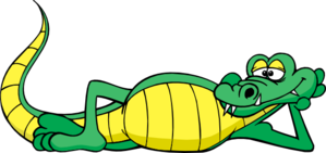 Alligator relaxing clip art. Relax clipart png free download