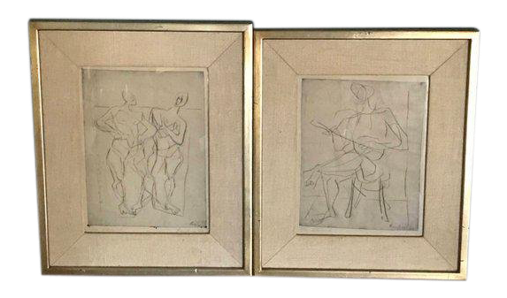 Relief drawing abstract. Germany figural etchings