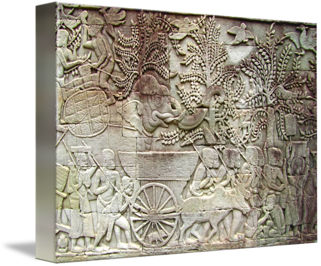 Relief drawing abstract. Bayon temple gallery common