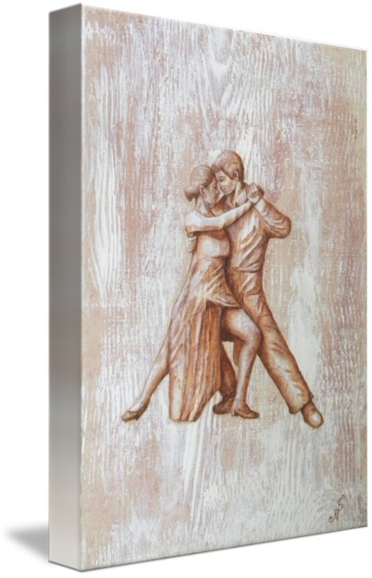 Relief drawing abstract. Tango dancer by noel