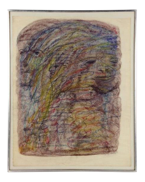 Relief drawing abstract. S vintage by
