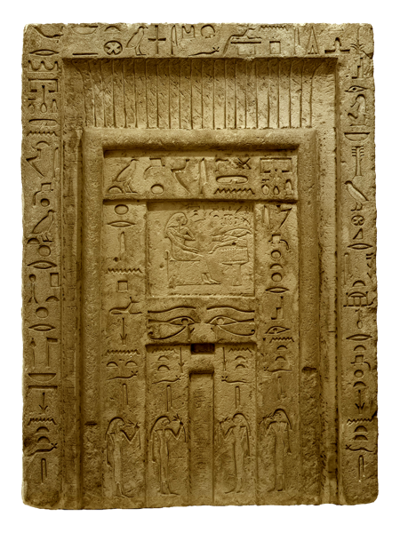 Relief drawing ancient war. False door late old
