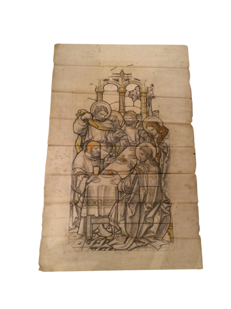 Relief drawing art. Mary s at