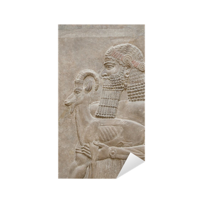 Relief drawing bas. Ancient babylonia and assyria