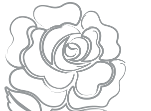 Relief drawing flower. England rugby sport ball