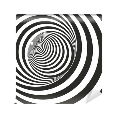 Relief drawing illusion. A black and white