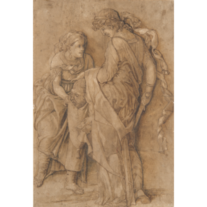 Relief drawing ink. After mantegna judith and