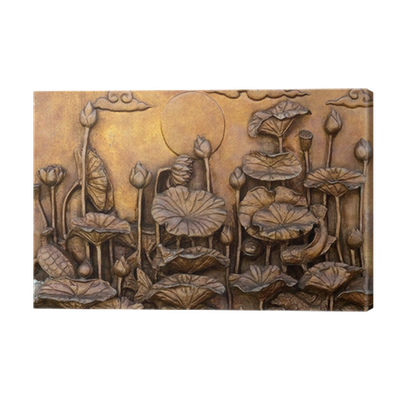 Relief drawing low. Cement thai style handcraft