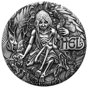 Relief drawing low. Norse goddesses hel