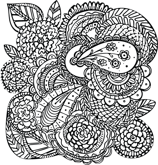 Relief drawing stress. Color your away opinion