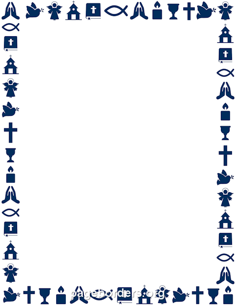 Religious clipart border. Printable christian use the