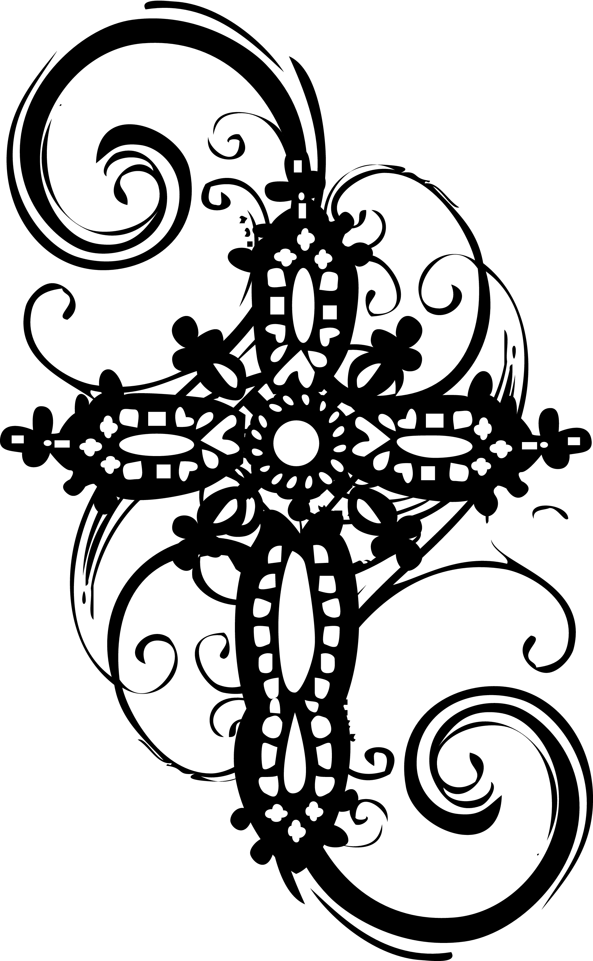 Religious clipart funeral. Swirl cross pencil and
