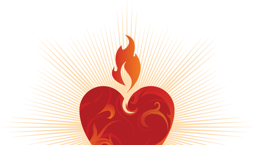 Religious vector sacred heart. Collection of free homilies