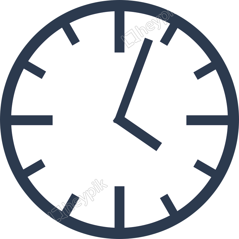 Reloj vector icono. Un simple descarga gratuita