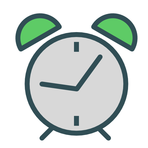 Reloj vector alarma. Icono gratis de swift