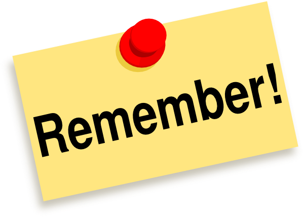 Remember clipart notes. Sticky note clip art