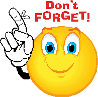 reminder clipart