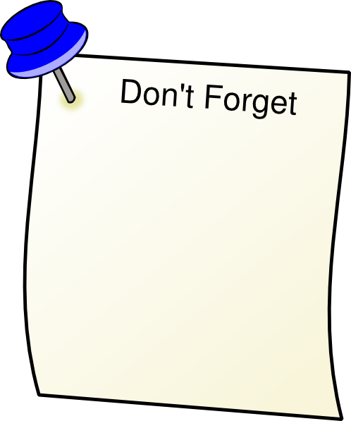 Reminder clipart don t forget. Dont clip art at