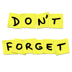 Reminder clipart don t forget. Png transparent images pngio
