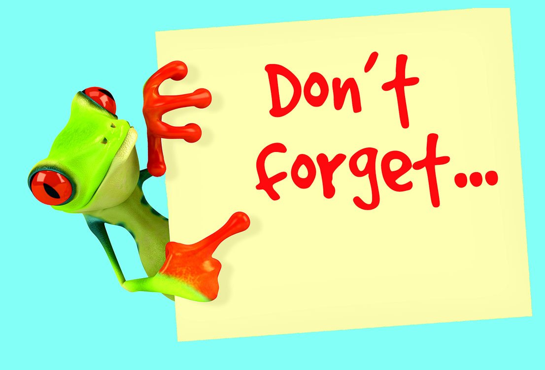 reminder clipart don t forget