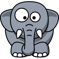 Reminder clipart elephant. Download baby kid free