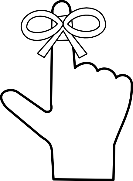 Reminder clipart finger. Clip art at clker
