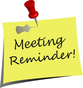 Reminder clipart meeting announcement. Notice possible realignment fox