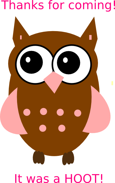 Reminder clipart owl. Pink clip art at