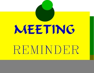 Reminder clipart weekly. Meeting free images at