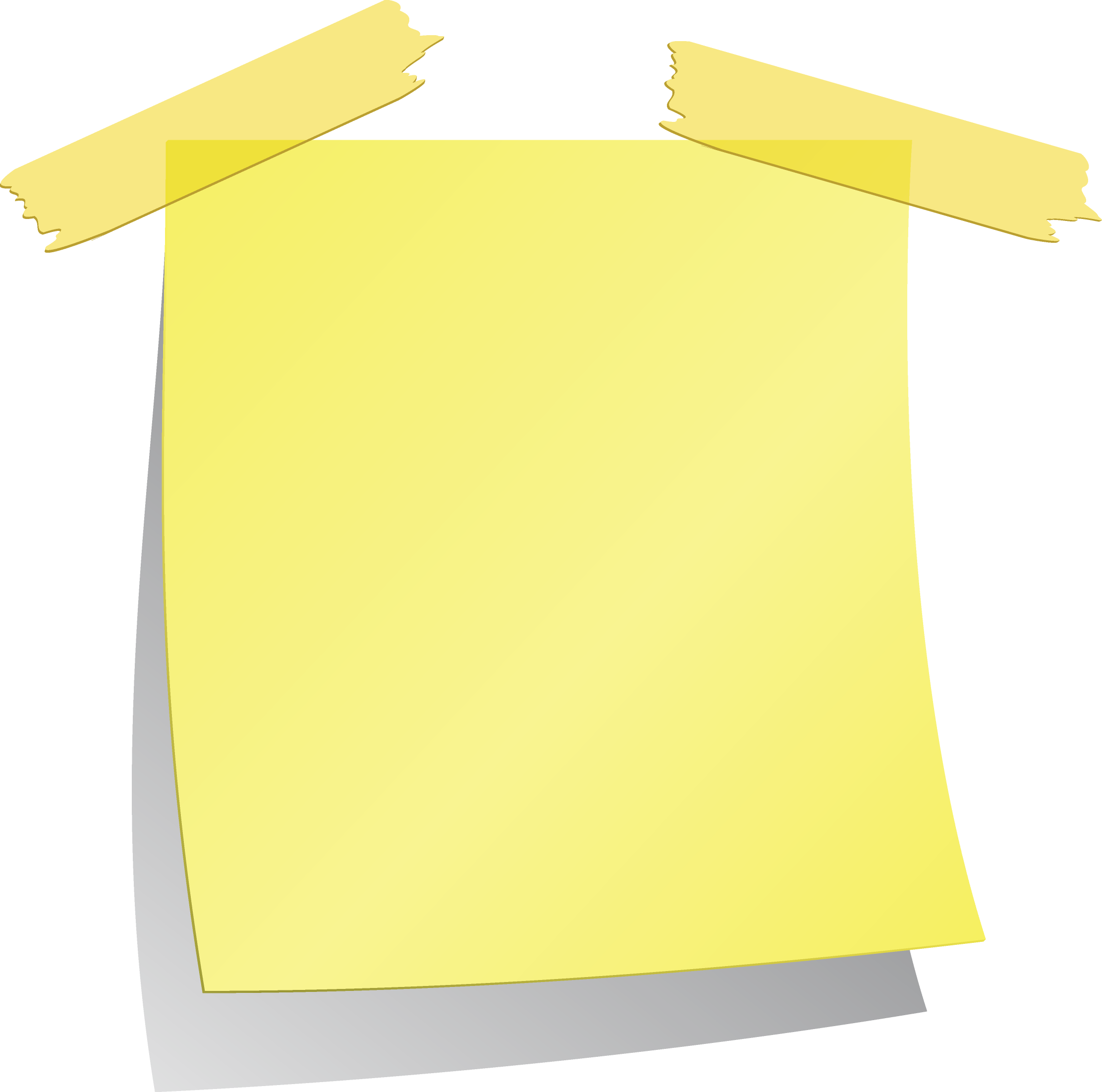 Post it clipart written note. Yellow sticky notes png