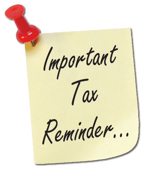 Reminder note png. Tax litcoachlady
