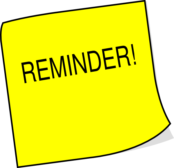 Reminder note png. Sticky clip art at
