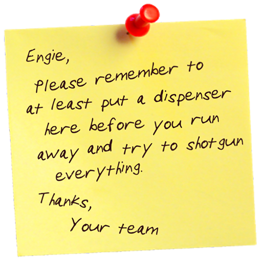 Reminder note png. Engineer team fortress sprays
