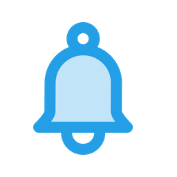 Reminder png bell. Icon of glyph style
