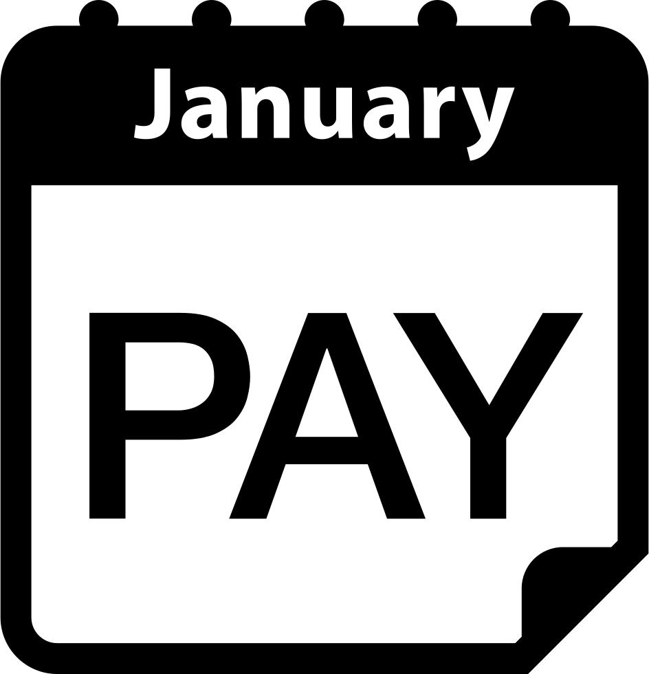 Reminder png payment. January calendar page svg